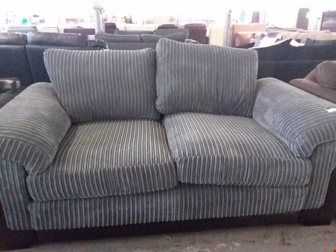 Lot 25 DESIGNER GREY CORD 2 SEATER SOFA