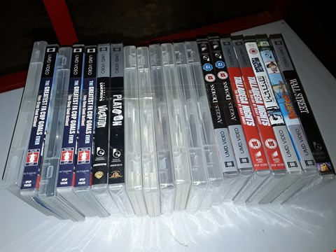 Lot 322 LOT OF 20 UMD VIDEOS FOR PSP TO INCLUDE ANGELS & DEMONS, TALLADEGA NIGHTS AND PLATOON