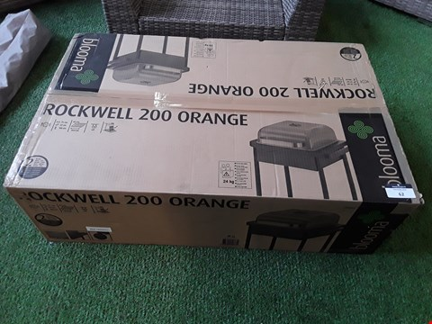 Lot 62 BOXED BLOOMA ROCKWELL 200 ORANGE CHARCOAL BARBECUE  RRP £83.00
