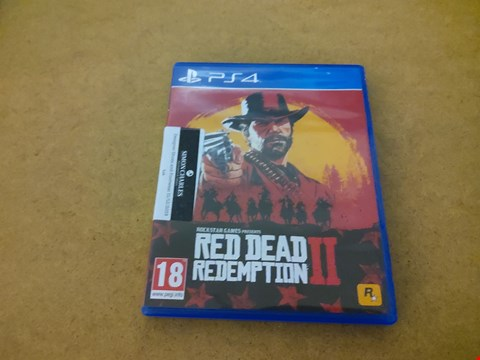Lot 2577 PS4 RED DEAD REDEMPTION II GAME
