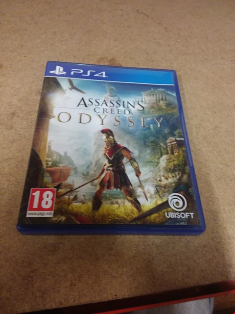 Lot 8199 ASSASINS CREED ODYSSEY PS4 GAME