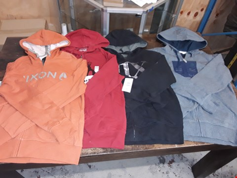 Lot 1703 LOT OF APPROXIMATELY 10 ASSORTED CLOTHING ITEMS TO INCLUDE VONZIPPER HOODIES AND NIXON HOODED JACKETS