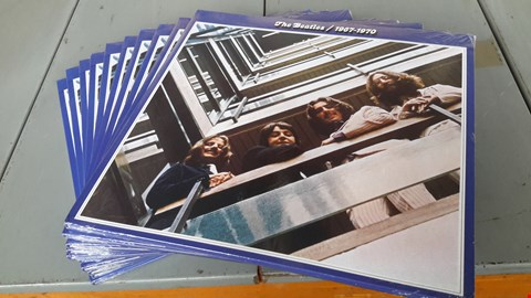 Lot 9009 LOT OF 10 'THE BEATLES/1967-70 THE BLUE ALBUM' VINYL RECORDS
