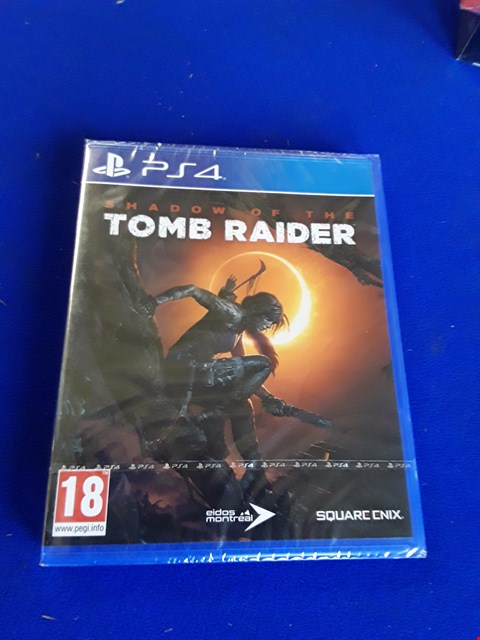 Lot 7622 SHADOW OF THE TOMBRAIDER PLAYSTATION 4 GAME