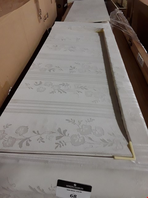 Lot 68 WHITE FABRIC DIVAN BED BASES WITH 2 DRAWERS