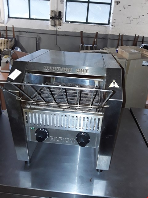 Lot 68 COMMERCIAL STAINLESS STEEL BURCO CONVEYOR TOASTER