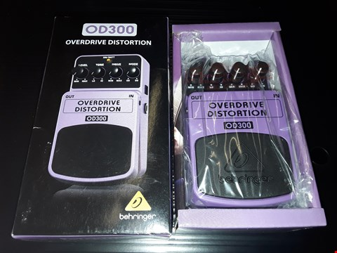 Lot 55 BOXED BEHRINGER OD300 2 MODE OVERDRIVE DISTORTION EFFECTS PEDAL
