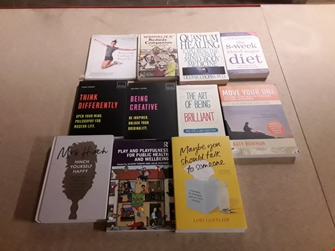 Lot 498 LOT OF APPROXIMATELY 11 ASSORTED BOOKS TO INCLUDE MAYBE YOU SHOULD TALK TO SOMEONE BY LORI GOTTLIEB, THE ART OF BEING BRILLIANT BY ANDY COPE+ANDY WHITTAKER, BEING CREATIVE BY MICHEAL ATAVAR ETC