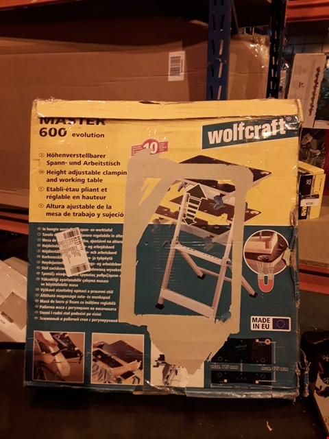 Lot 4367 WOLFCRAFT MASTER 600 CLAMPING AND WORKING TABLE