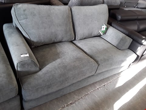 Lot 69 DESIGNER GREY FABRIC TWO SEATER SOFA