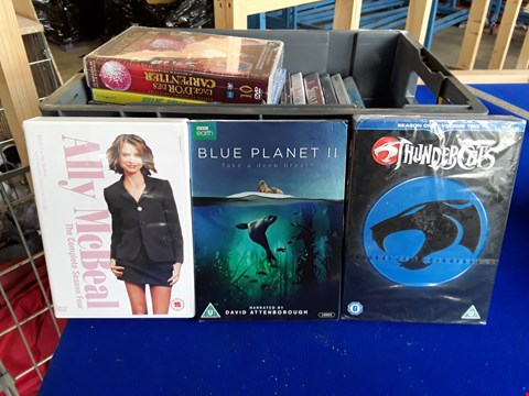 Lot 7688 BOX OF APPROXIMATELY 21 ASSORTED DVDS TO INCLUDE BLUE PLANTE, ALLY MCBEAL, THUNDERCATS ETC