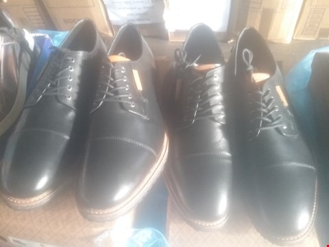 Lot 7062 BAG OF APPROXIMATELY 10 ASSORTED ITEMS OF FOOTWEAR TO INCLUDE PENGUIN YOKO DERBY BLACK SHOES