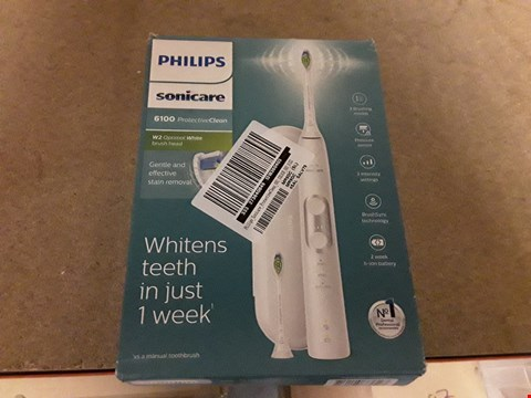 Lot 221 BRAND NEW PHILIPS SONICARE 6100 PROTECTIVE CLEAN ELECTRIC TOOTHBRUSH  RRP £90