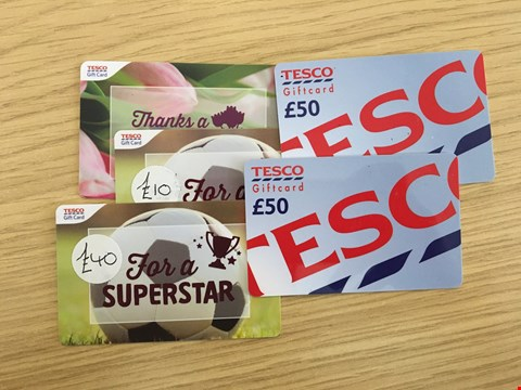 Lot 23 5 TESCO GIFT CARDS.  TOTAL VALUE £155