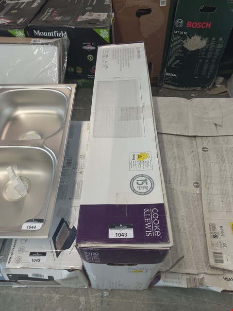 Lot 1043 BOXED COOKE AND LEWIS BURBANK 1-BOWL SINK AND DRAINER  RRP £187.00