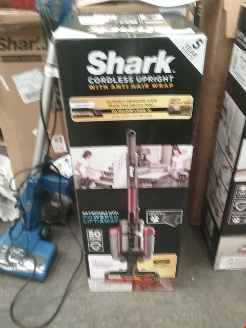 Lot 9208 BOXED SHARK CORDLESS UPRIGHT WITH ANTI HAIR WRAP
