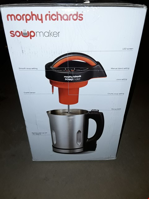 Lot 375 MORPHY RICHARDS SOUP MAKER