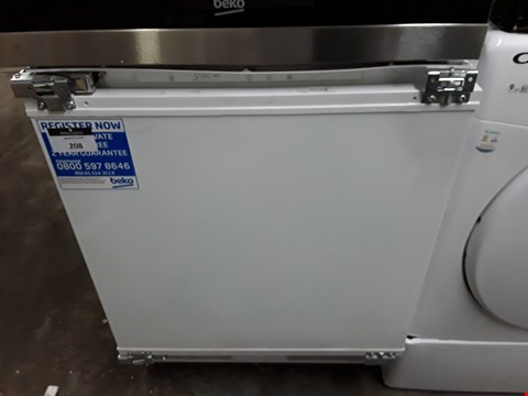 Lot 208 BEKO FAST FREEZE INTEGRATED UNDER COUNTER FREEZER
