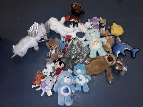 Lot 7196 BOX OF APPROXIMATELY 20 ASSORTED CUDDLY TOYS