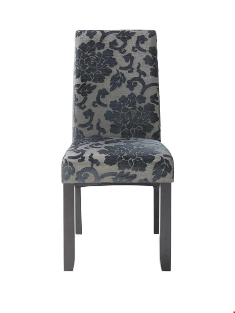 Lot 2483 PAIR OF GRADE ONE BOXED OXFORD DINING CHAIRS - SILVER