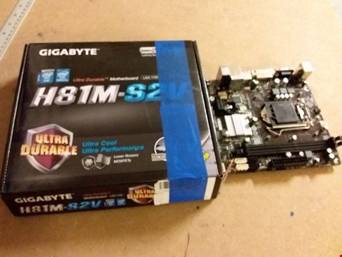 Lot 988 GIGABYTE ULTRA DURABLE H81M-S2V MOTHERBOARD