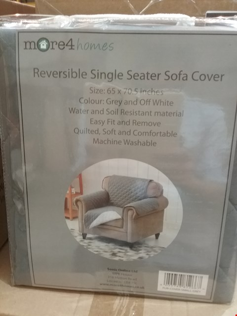 Lot 70 2 BOXES OF 10 MORE 4 HOMES REVERSIBLE SMALL SINGLE SEATER SOFA COVERS