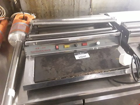 Lot 13547 BROTHER TRAY WRAPPING SEALER HW-450