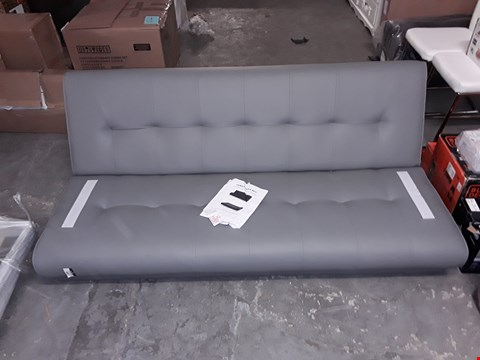 Lot 600 QUALITY VENICE SOFA BED - GREY FAUX LEATHER