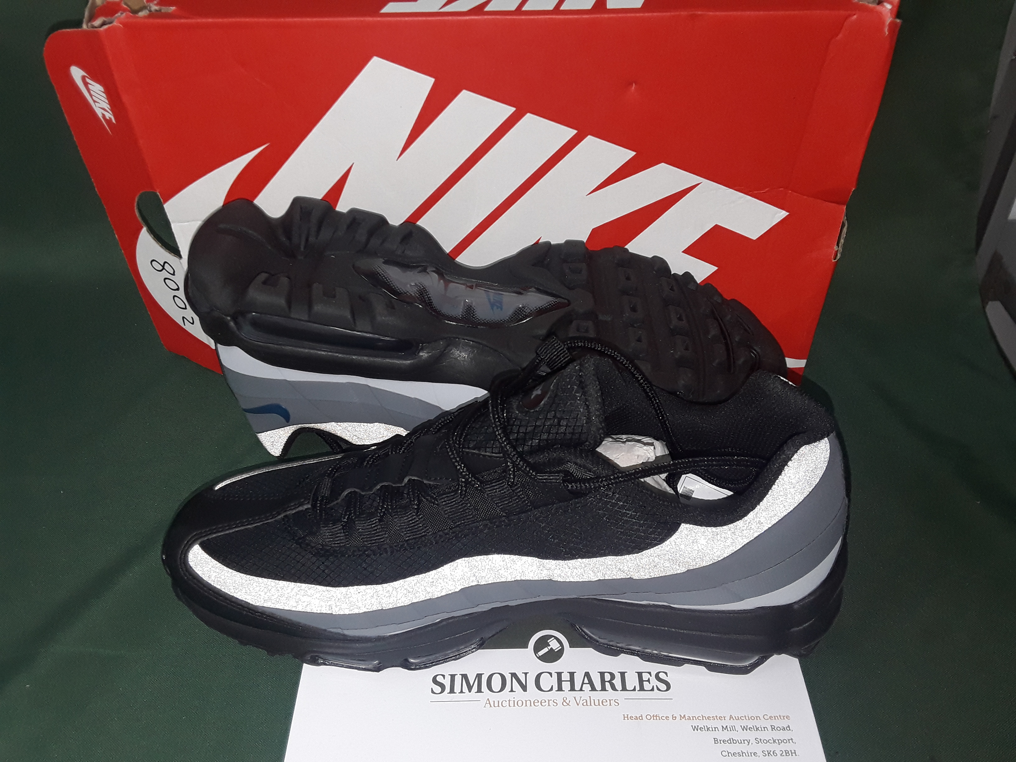 new concept ba338 257c1 Lot 6022: BOXED NIKE AIR MAX 95 SE ANTHRACITE BLACK TRAINERS ...