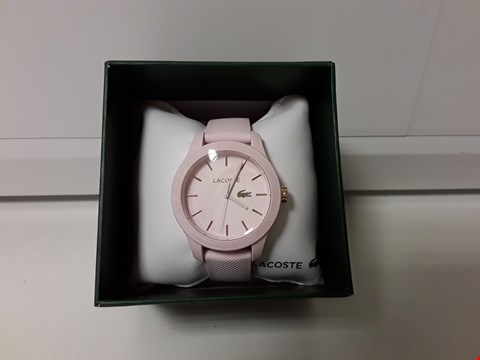 Lot 2143 LACOSTE 1212 PINK DIAL WRISTWATCH  RRP £99.00