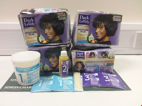 Lot 193 LOT OF 5 DARK AND LOVELY SUPERIOR MOISTURE PLUS HAIR CARE SETS