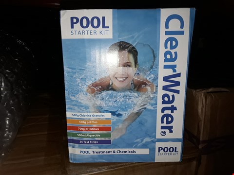 Lot 344 BRAND NEW CLEAR WATER POOL STARTER KIT RRP £37.00