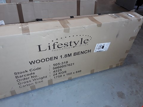 Lot 5272 BOXED LIFESTYLE WOODEN 1.8M BENCH (1 BOX)