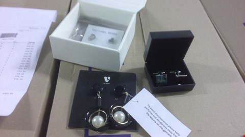 Lot 1091 A BOX OF APPROXIMATELY 16 JEWELLERY ITEMS TO INCLUDE VERY EAR RINGS, MICHAEL KORS AND CUFFLINKS  RRP £369.89