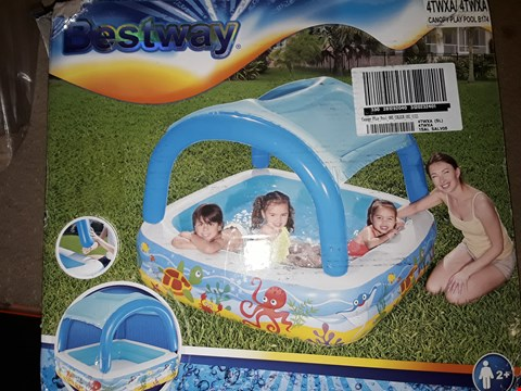 Lot 7125 GRADE 1 BOXED BESTWAY CANOPY PLAY POOL RRP £33.00
