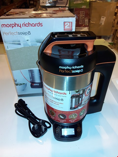 Lot 1236 MORPHY RICHARDS PERFECT SOUP COOKER/MAKER