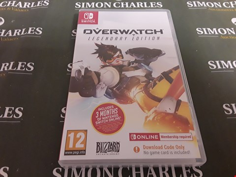 Lot 1201 OVERWATCH LEGENDARY EDITION NINTENDO SWITCH GAME RRP £40.00