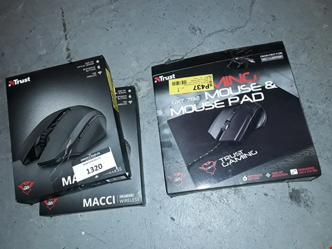 Lot 1320 LOT OF 3 GAMING MOUSES
