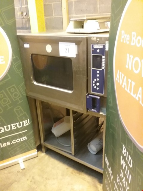 Lot 5 HOBART STAINLESS STEEL 6 TRAY COMBI OVEN ON STAND