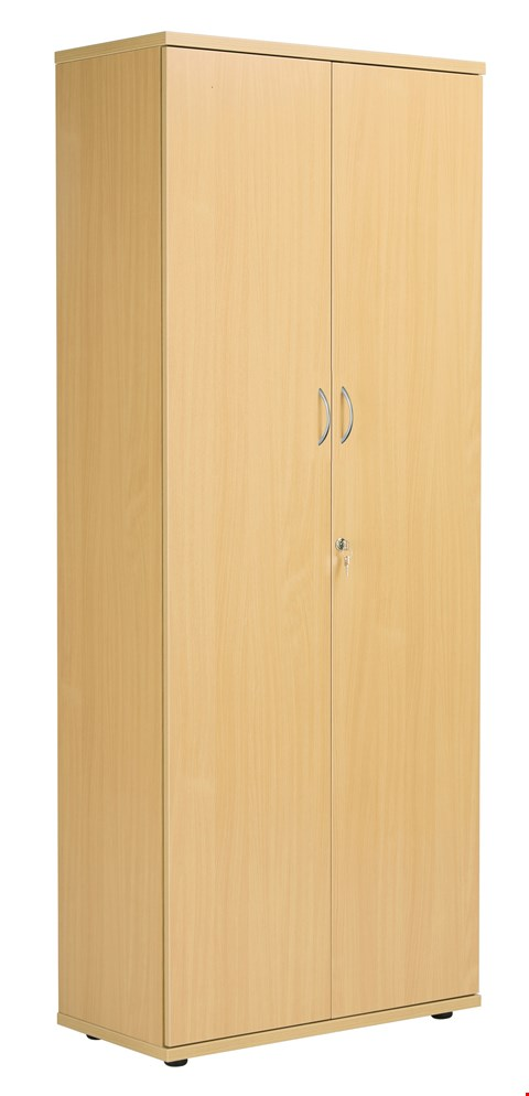 Lot 20 BRAND NEW BOXED FRACTION PLUS DOUBLE DOOR 200 CUPBOARD INC. 4 SHELVES - NOVA OAK AND WHITE RRP £476.00