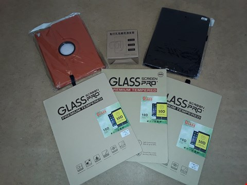 "Lot 6013 LOT OF APPROXIMATELY 6 ITEMS TO INCLUDE GLASS SCREEN PRO IPAD 10.5 "" PROTECTORS AND IPAD 9.7"" CASES"