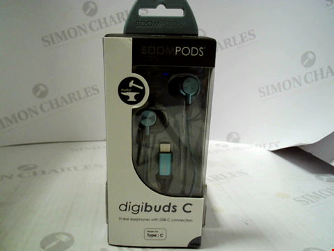 Lot 379 BRAND NEW BOOMPODS DIGIBUDS C IN-EAR EARPHONES WITH USB-C CONNECTION