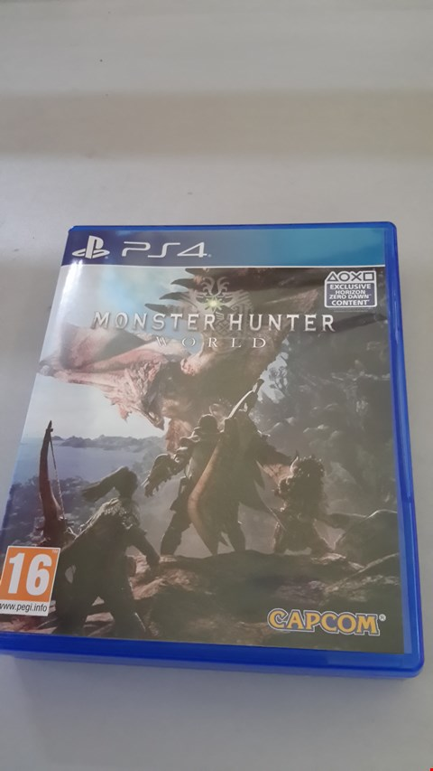 Lot 9064 MONSTERHUNTER WORLD FOR PS4