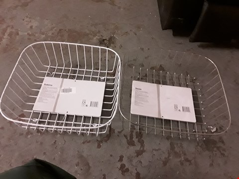 Lot 2060 LOT OF 2 WIRE BASKETS INCLUDES SABINE AND SESIA DESIGNS