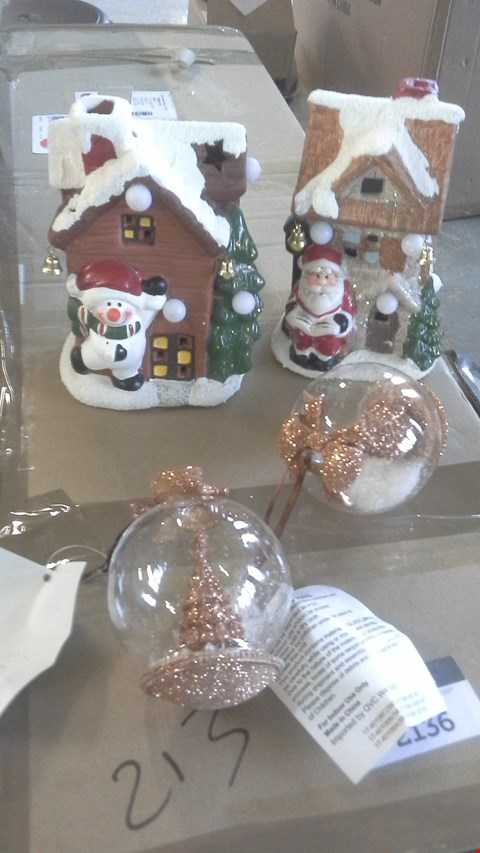 Lot 2193 A LOT OF 2 BOXES TO INCLUDE CHRISTMAS BAUBLES AND CHRISTMAS DECOR ORNAMENTS