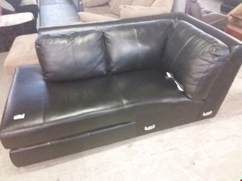 Lot 54 DESIGNER FAUX BLACK LEATHER SHADE SECTION
