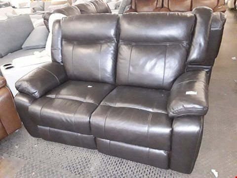 Lot 10003 DESIGNER PALMERO BLACK LEATHER TWO SEATER POWER RECLINING SOFA  RRP £1799