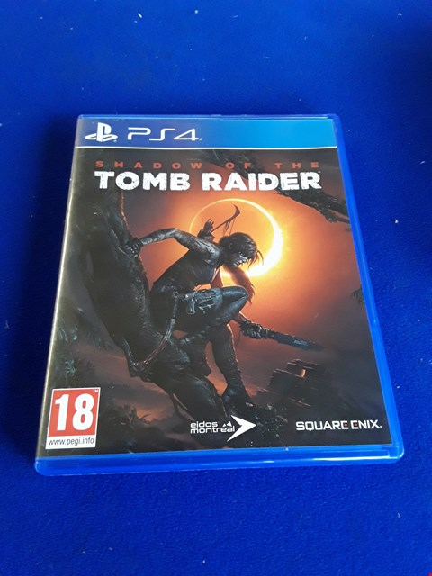 Lot 7637 SHADOW OF THE TOMBRAIDER PLAYSTATION 4 GAME