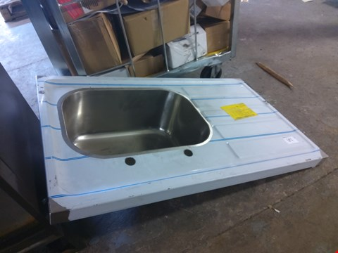 Lot 692 STAINLESS STEEL 2 TAP HOLE SINK