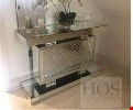 Lot 1045 BRAND NEW FLOATING CRYSTAL RECTANGLE MIRRORED CONSOLE TABLE RRP £275.00
